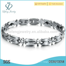 Hot selling cross connect bracelet,ladies stainless steel bracelet