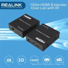 150m HDMI Over Einzel Cat5 CAT6 Extender (IR + HDMI über TCP / IP)