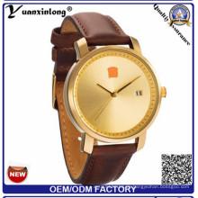 Yxl-927 Männer-Uhren neue Luxuxmarke-volle echtes Leder-Taktgeber-wasserdichte männliche beiläufige Quarz-Armbanduhr