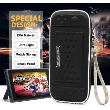 NS EVA Portable Travel Protective Hard Zip Bolsa de armazenamento para Nintendo Switch com 8 Slot de cartão de jogo