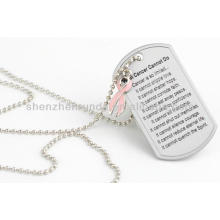 Wholesale Engrave Stainless Steel Blank Plate Pendant Men Dog Tag Pendants Necklaces Jewelry Accessories