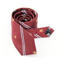 Homens de gravata natural tecida de alta qualidade com logotipo do cliente