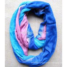 Fashion ladies polyester tie dye infinity scarf