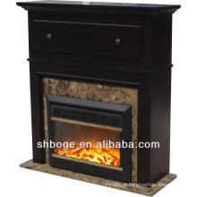 Bom artístico carvalho marrom madeira mantel lareira barata