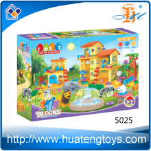 Hot selling animal bricks and house building blocks toys for kids