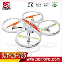 Nouvelle arrivée 2.4GHz 6 axes Gyro RC Quadcopter Drone w / Caméra Extérieure Photo Photo Spy 250 ft gamme SJY-LS-125