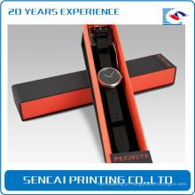 Caixa de embalagem de pulseira de relógio Luxury Cardboard com inserções de embalagem de espuma