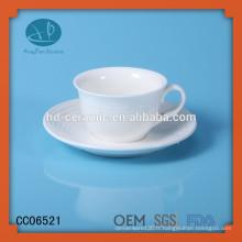 Tasse à thé en céramique à fournisseur, tasse à thé en céramique 125ml et soucoupe, ensemble de tasses à thé Tripe