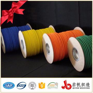 Corda elástica tecida poliéster redonda do estiramento forte