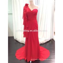 Latest Dersign Evening Dress from Dubai Elegant Red One Shoulder Women Formal Wear Plus Size Evening Dress Turkey C5