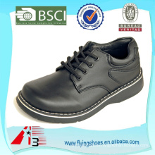 customize leather or pu children school shoes