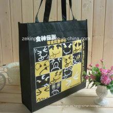 Bolso de compras no tejido de alta calidad / la bolsa de asas con el logotipo de encargo para promocional