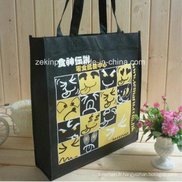 Sac à provisions non tissé de haute qualité / sac fourre-tout avec le logo fait sur commande pour promotionnel
