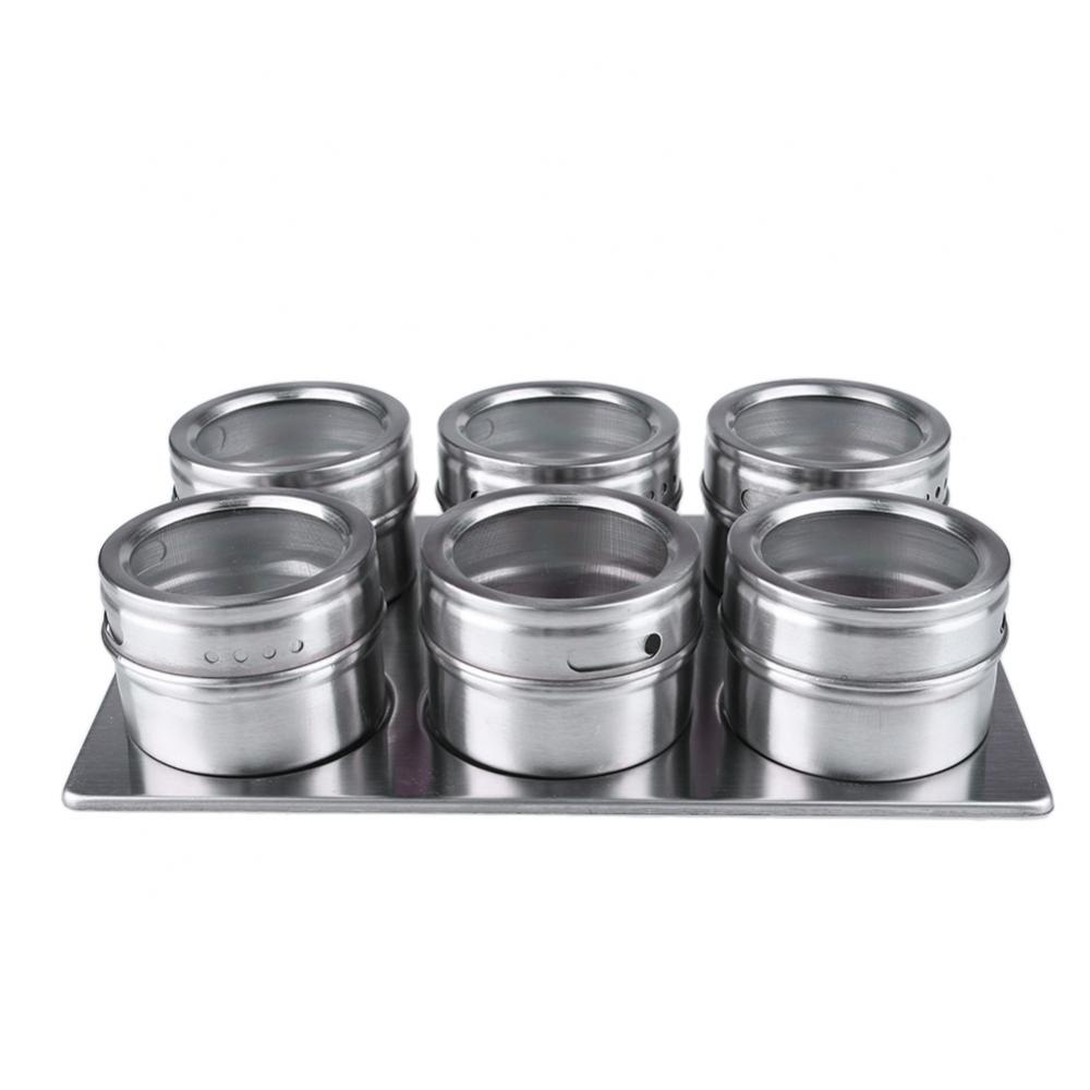 Magnetic Spice Jars Stainless