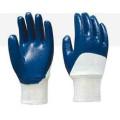 Cotton Jersey Nitrile Half Coating Glove