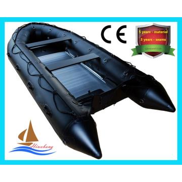 Hochwertiges PVC-aufblasbares Rettungsboot, Fischerboot mit CER
