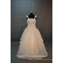 EN STOCK Hombro-correas Vestido de boda del vestido de bola Vestido nupcial del piso-longitud SW12