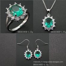 2016 Fashion Green Spinel Gemstone Jewelry Set