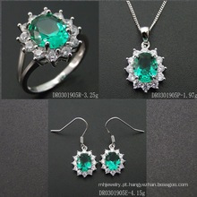 2016 Fashion Green Spinel Gemstone Jewelry Set
