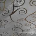 Goldenes bedrucktes Glasgarngewebe