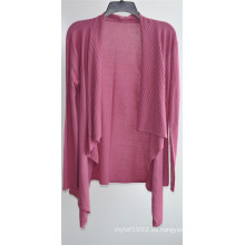 Mujeres de manga larga Opean Pure Color Knit Cardigan