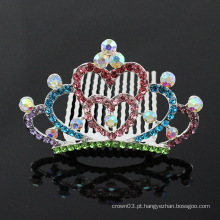 Princesa coroa pente para menina rhinestone moda acessórios para o cabelo