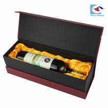 Оптовая изготовленный на заказ упаковывая коробка вина картона, коробка подарка вина бутылки с пеной