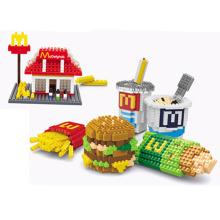 Crianças Brinquedo DIY Block fastfood conjunto Toy Block (H03120106)