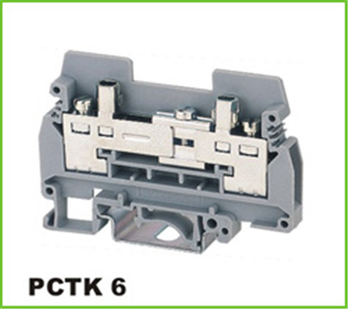 DIN Rail Industrial Distribution Terminal Block 6mm2