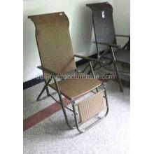 Iron Wicker Indoor Rattan Folding Chair
