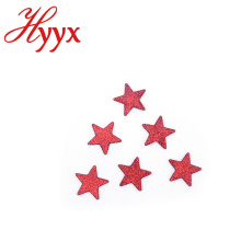 HYYX New Customized Silver Glitter Five Point Star Multiple Star christmas ornaments