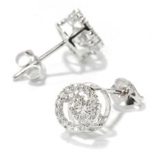 Pendiente de plata del perno prisionero de la joyería 925 del diamante del baile de la manera
