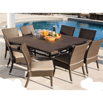 Modern Design Garden Möbler Outdoor Rattan Dining Set