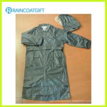 Rvc-169 100% Polyester PU Coating Police Raincoat