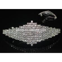 Cheap Beautiful Rhinestone Hairgrip Girls Headwear Glitter Crystal Barrette