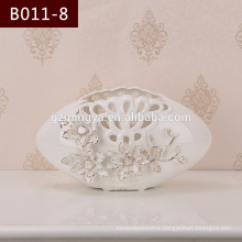 Top quality factory direct sale beautiful flower vase home decorative hollow out flower pottery