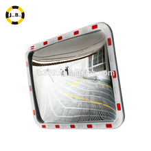 Rectangular traffic acrylic convex and concave mirror