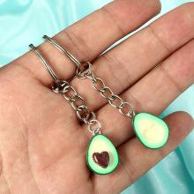 Симпатичное кольцо для ключей с авокадо, используемое для подвешивания, аксессуары для сумок, цепочка, сумка, подвеска, ювелирные изделия, разные случаи, День Святого Валентина, день рождения