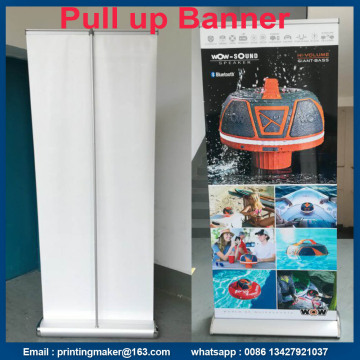 Wide Base Aluminium Roll Up Stand mit Druck