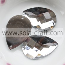20 * 30mm Crystal zilver acryl Amlond Cut Peardrop Sequin Mirred Crystal kraal galerie maken