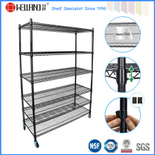 Adjustable 6 Tier Powder Coating Metal Stacking Wire Shelf Manufacturer