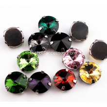 14mm acrylique boutons strass
