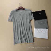 100% Organic Cotton V Neck Women′s T-Shirt