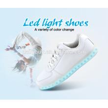 Unisex USB charging European standard LED light sports shoes for men