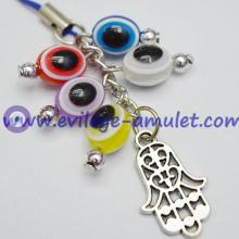 Multicolor Evil Eye Grape Bunches Cell Phone Decoration