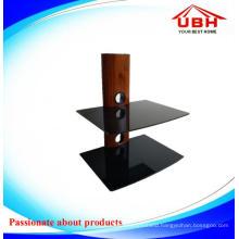 Wood Grain Tube DVD Glass Support