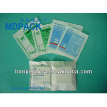 smoothly paper/aluminium/plastic complex pouch for packing medical supplies