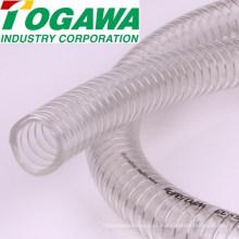 Mangueira transparente anti-estática de PVC flexível de alta qualidade para pó, óleo, água. Feito no Japão (plástico transparente transparente branco)
