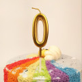 Metallic Birthday Number Candle