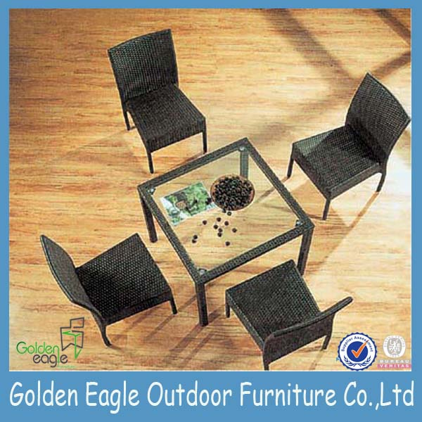 PE wicker patio furniture set